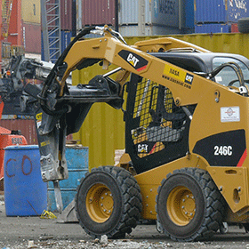stanley breaker mounted on skid steer - hydraulic tools sales and rentals in Winnipeg