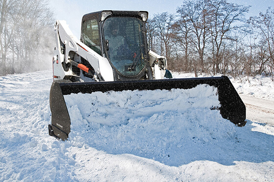 hydraulic skid steer snow removal attachments snow bucket plow