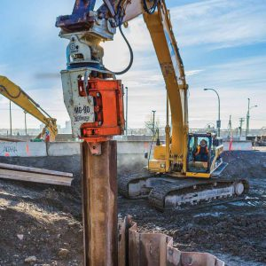pile driver rent lease own buy sell new vibratory