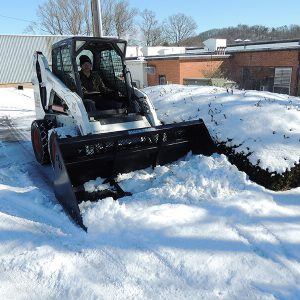 high back snow bucket hydraulic skid steer attachment
