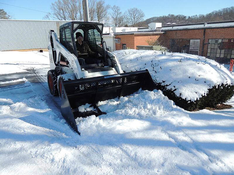 high back snow bucket hydraulic skid steer attachment
