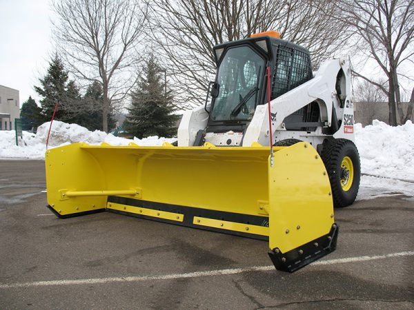 skid steer blade attachment snow removal pusher for sale winnipeg