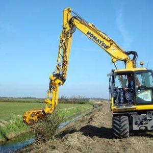 excavator ditch digging hydraulic attachment