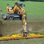 skid steer ditch clearing attachment extra long hydraulic excavator tool