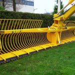 lines and tines of ditch clearing attachment - large oversize bucket for ditches