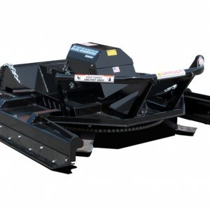 blue diamond severe duty skid steer attachment brushcutter 3/4 view