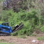 blue diamond severe duty skid steer attachment brushcutter 3/4 view