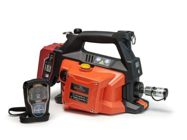 hydraulic pump new from cembre remote control
