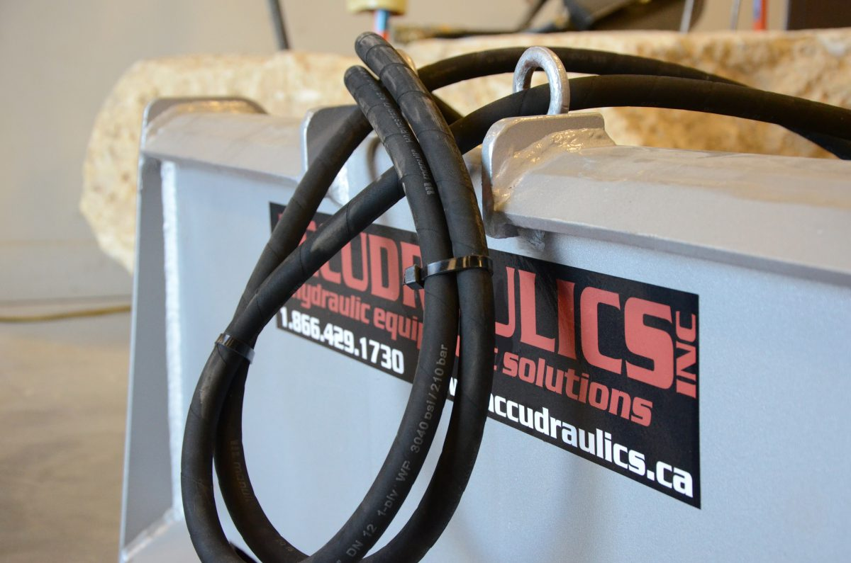 hydraulic hoses over logo and blade attachment clipped together hose kit