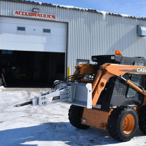skid steer breaker attachment - impact breaker on case winter activities
