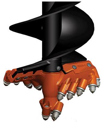 bolt on rock drilling auger head pengo attachment severe duty