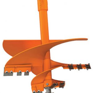 heavy duty tree auger drilling light rock and permafrost conditions