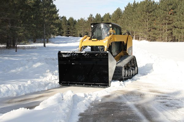 light material bucket for skid steers like snow