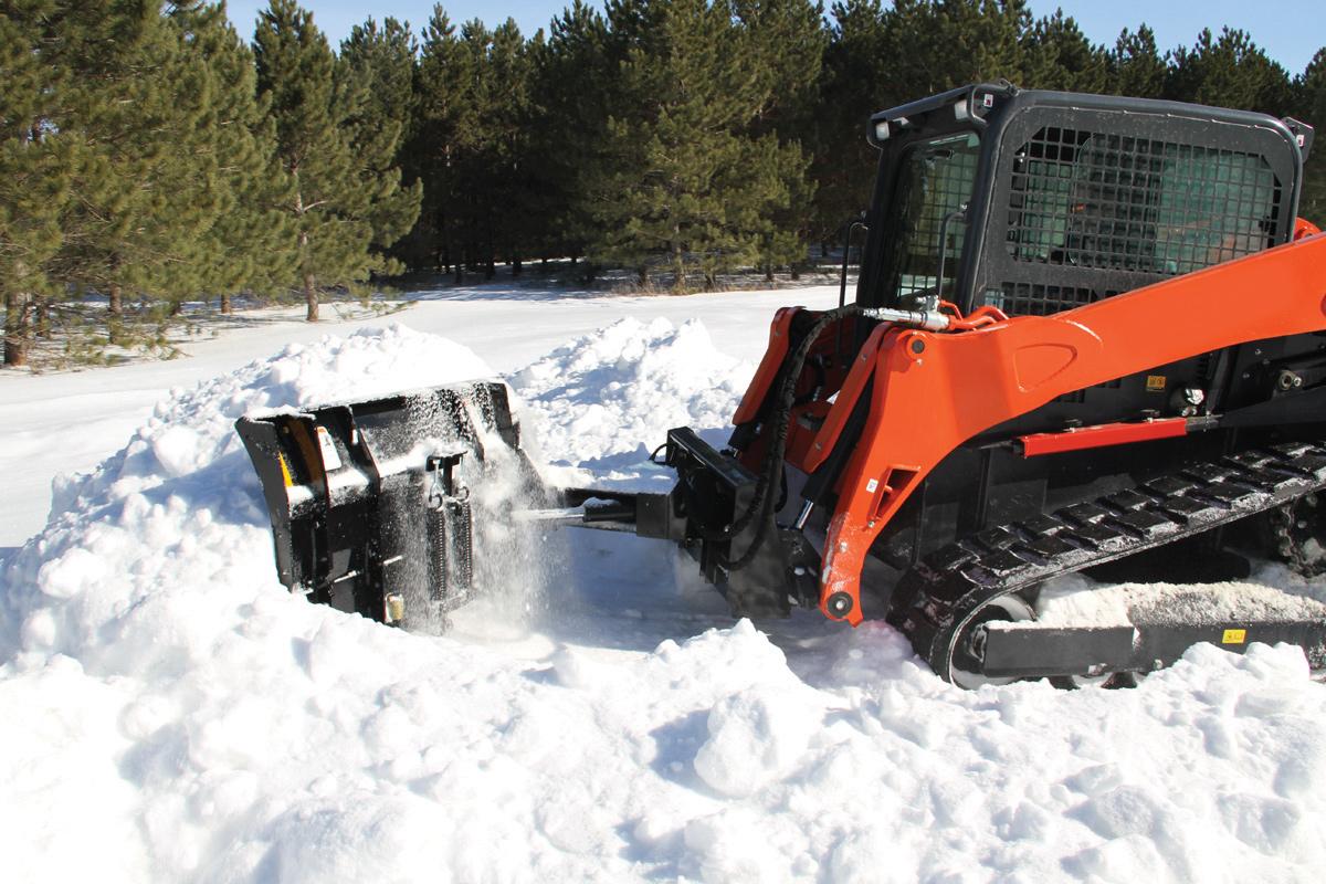 skid steer with v plow blade attachment reseller in Manitoba Saskatchewan