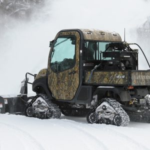 Big UTV attachment blowing snow like a boss sell, rent, lease in Manitoba or Saskatchewan