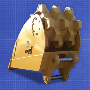 roller-bucket felco excavator attachment