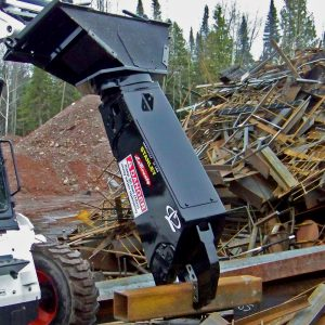 skid steer bobcat shear metal processor cutter