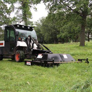 large skid steer dual mower