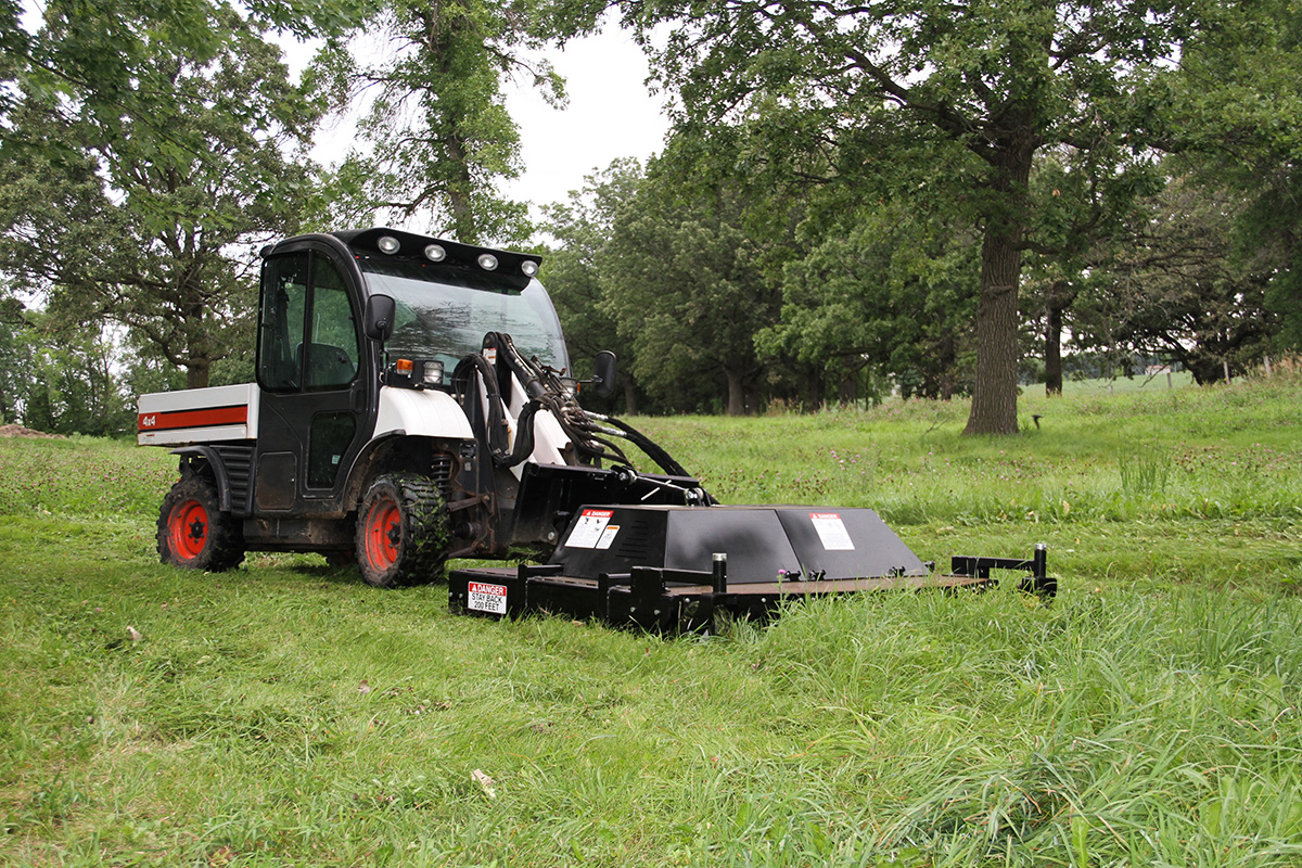 Erskine Dual Rotary Brush Mower Attachment For Larger Skid
