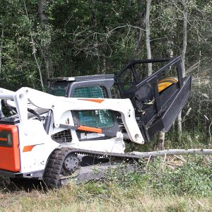 mulching mower forestry attachment for skid steer
