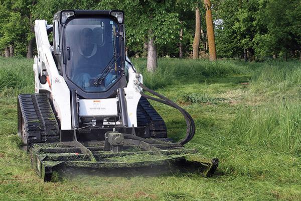 utility mower erskine skid steer mower attachment attached