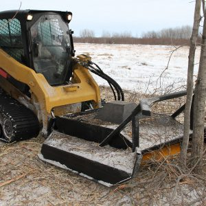 Extreme Heavy-Duty Brush Mower skid steer