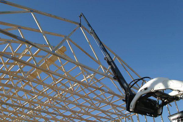 building teleboom skid steer