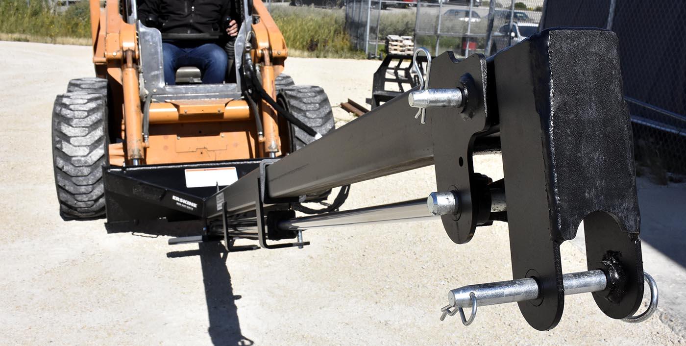 hook closeup on teleboom skid steer extension