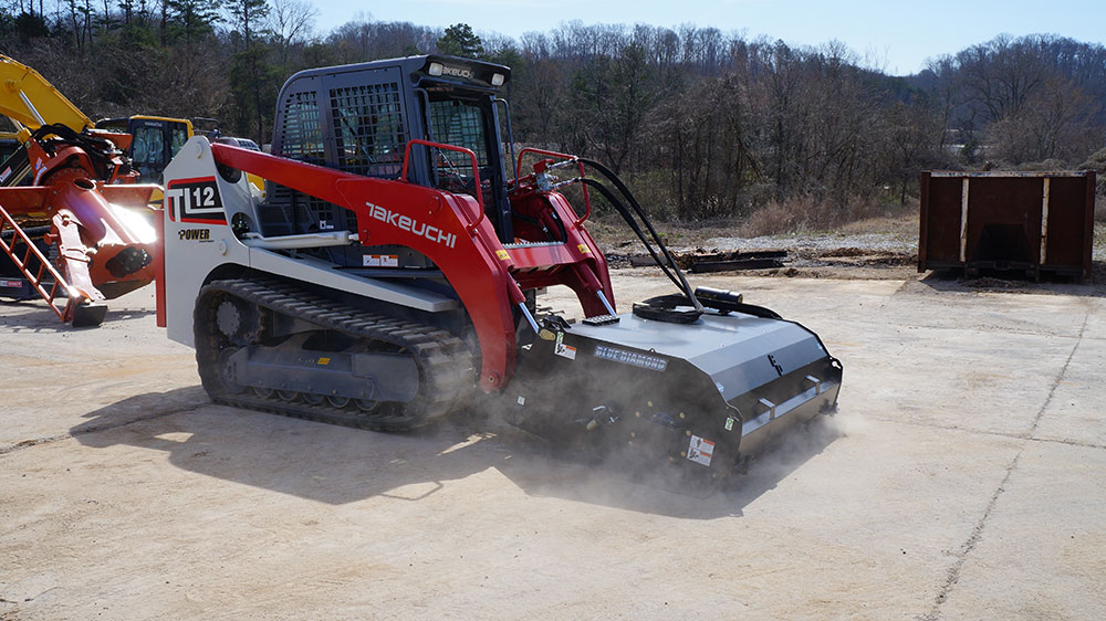 Mounted on skid steer Pickup Broom hydraulic attachment street cleaning equipment