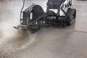 hydraulic rock saw heavy duty attachment