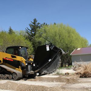 rock saw skid steer attachment