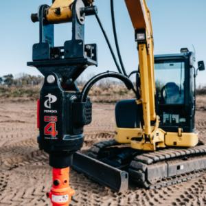auger drive mount excavator end of stick pengo manitoba saskatchewan sales rentals
