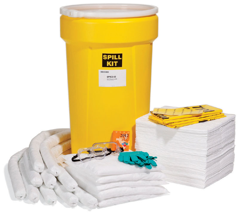 spill kit oil cleanup 55 gallon capacity