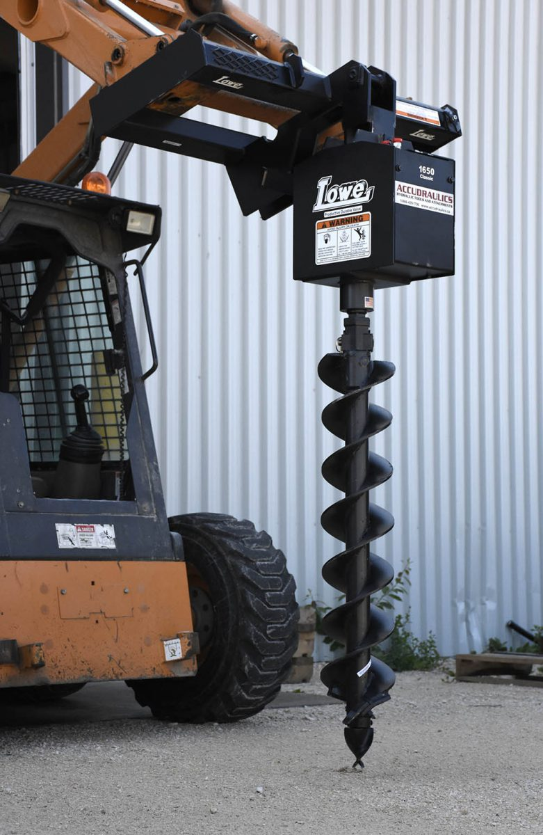 Auger Post Hole Drill Skid Steer Attached