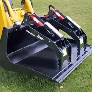 lowe bucket grapple for skid steers