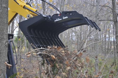 lowe grapple bucket farming skid steer attachment