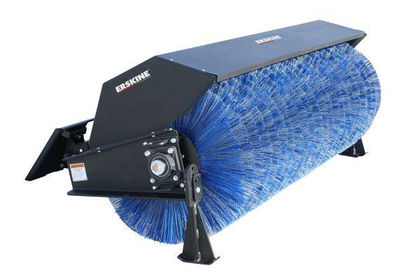 skid steer attachment broom street cleaning blue diamond broom
