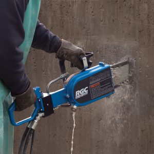 hydraulic concrete saw handheld wall cuts