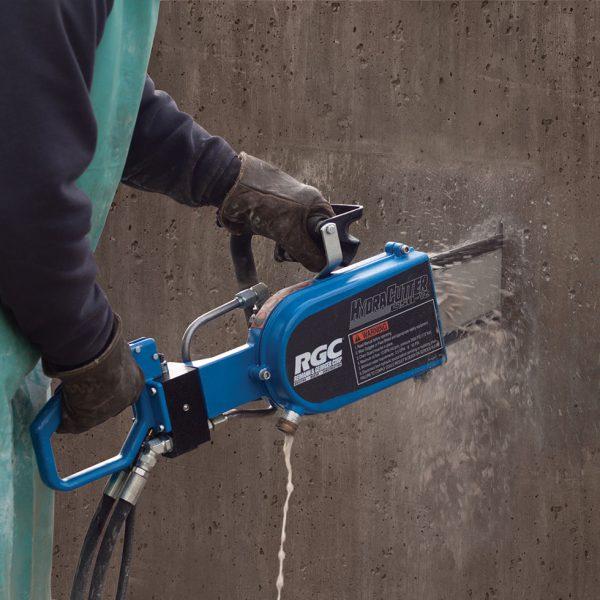 hydraulic concrete saw handheld wall cuts