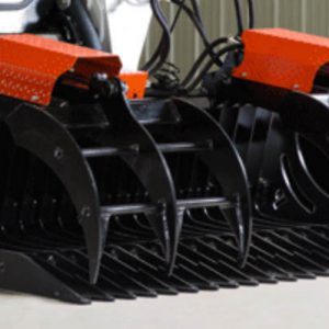 affordable heavy duty rock bucket grapple for skid steers