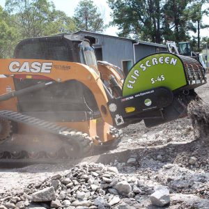 screening bucket for skid steers