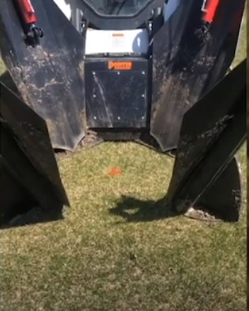 Skid steer tree moving and removal attachment spade