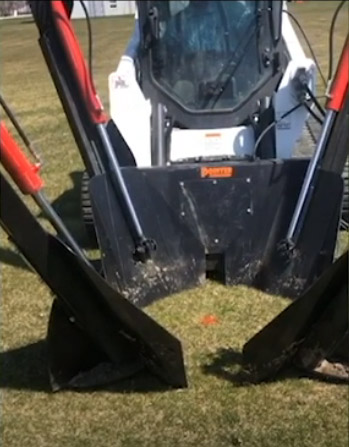 tree spade hydraulic attachment skid steer details