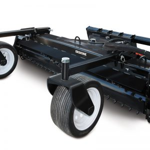 wheels deep soil rake conditioner skid steer attachment