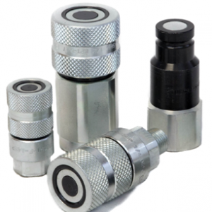 flat face hydraulic line coupler