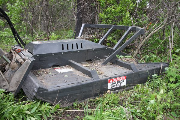 heavy duty brush cutter mower in the bush